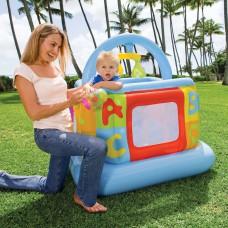 Надувной детский манеж-батут Intex 48473