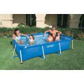 Бассейн на опорах 220х150х60 см Intex Rectangular Frame Pool 28270