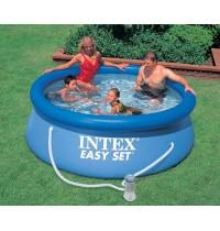 Надувной бассейн 244 х 76 см + насос-фильтр Intex 28112
