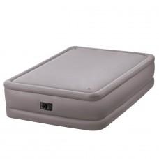 Двуспальная надувная кровать Intex Qeen Foam Top Airbed 64468 с встроенным насосом
