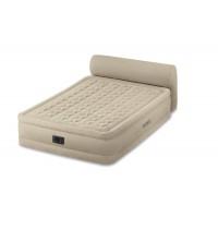 Двуспальная надувная кровать Intex Headboard Bed 64460 cо спинкой и встроенным насосом